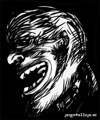 zombie creado por Jorge Vallejo