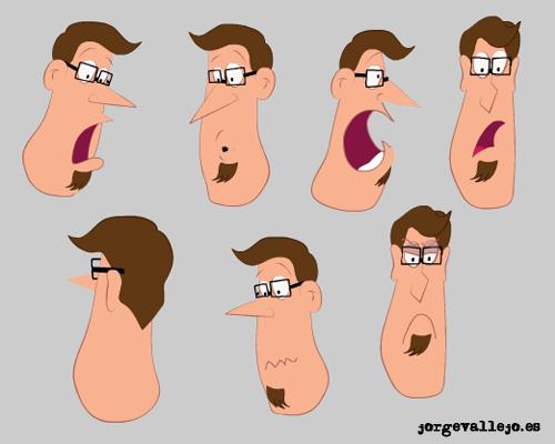 caras personaje creado por jorge vallejo