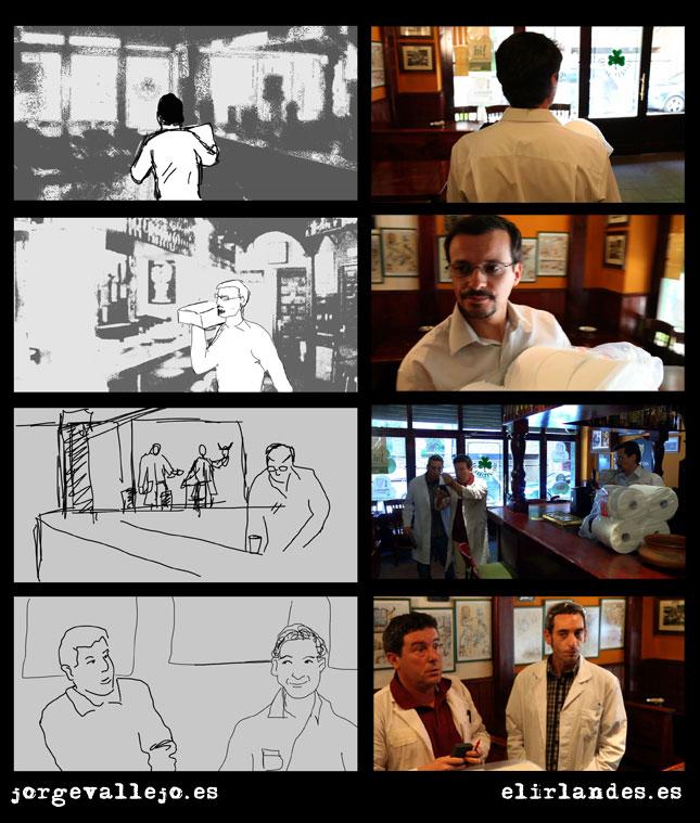 comparativa storyboard creada por jorge vallejo