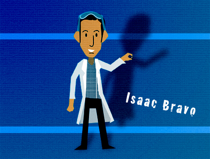 Issac Bravo una ilustracion de Jorge Vallejo