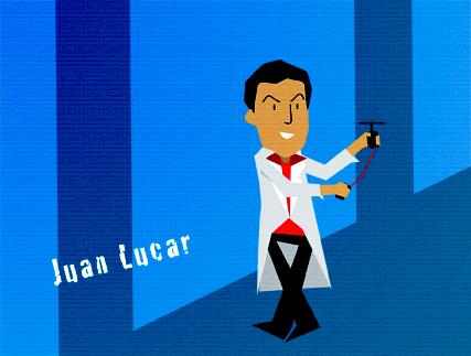 Juan Lucar ilustraccion de Jorge Vallejo