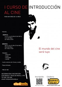 Cartel introducción al cine E2E4 Media